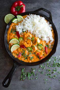 Thai Coconut Shrimp Curry Recipe - Peas and Crayons Curry Recipes, Shrimp Recipes, Asian Recipes, Ethnic Recipes, Calamari Recipes, Thai Curry, Lentil Curry, Thai Coconut, Coconut Shrimp