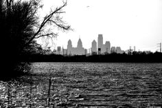 #Philly Skyline, taken from Palmyra, NJ