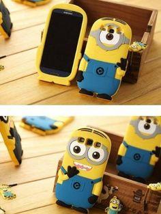 Samsung Galaxy S3 i9300 Despicable Me Minions 3D Silicone Soft Case