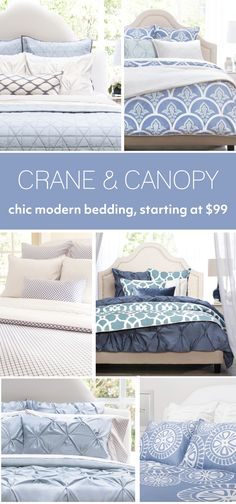 From chic bedding and beautiful statement duvet covers, find the luxury bedding that fits your modern home. Named the best site for bedding by HGTV. - Home Decorating Diy Ideas Dream Bedroom, Home Bedroom, Bedroom Decor, Bedroom Ideas, Master Bedrooms, Bedroom Furniture, Chic Bedding, Luxury Bedding, Bedding Sets