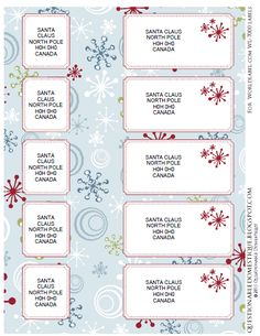 Christmas Envelope Wrap Labels FREE Printable...