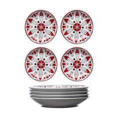 Christmas Santa Kleiner Teller, 4 Teile - Sagaform Design Group - Sagaform - RoyalDesign.de