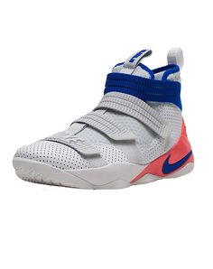Authorized Nike retailer. NIKE Lebron Soldier XI Men's high top sneaker  Four elastic straps for easy on/off Lightweight foam midsole Adjustable  straps hug ...