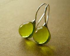 green glass + earrings
