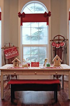 Santa's Workshop, Christmas/Holiday Party, Invitations, Gingerbread Houses
