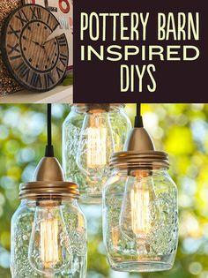 21 DIYs Inspired By Pottery Barn http://www.lilmoocreations.com/21-diys-inspired-pottery-barn/