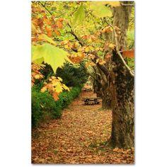 Trademark Fine Art Autumn Conversations Canvas Art by Beata Czyzowska Young, Size: 30 x 47, Multicolor