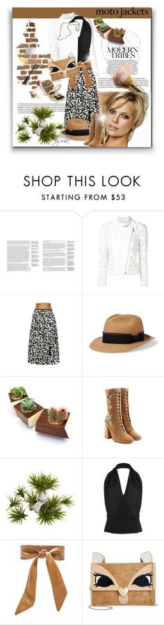 """""""After Dark: Moto Jackets"""" by eula-eldridge-tolliver ❤ liked on Polyvore featuring GESTALTEN, Sophie Theallet, Sensi Studio, Dot & Bo, RED Valentino, Tamara Mellon, Lovers + Friends, Betsey Johnson and Chanel"""