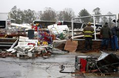 Tornadoes, vicious storms kill five, flood large areas of the South