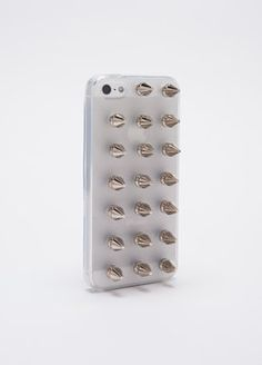 Scare people from stealing your phone with this custom iPhone 5 case that features three studs across seven rows. Warning: You may have to register this baby as a weapon. Iphone 4s, Iphone Cases, Candy Apples, Apple Candy, Iphone Accessories, Studs, Stuff To Buy, Summer Solstice, Weapon