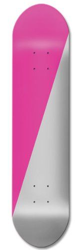 """Cheap Two Tone boards Skateboard GRAPHIC Decks, 7.5, 7.75 and 8"""", Diagonal Pink & Silver, 8 - http://ridgecrestreviews.com/cheap-two-tone-boards-skateboard-graphic-decks-7-5-7-75-and-8-diagonal-pink-silver-8/"""