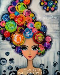 Art Pop, Happy Paintings, Whimsical Art, Art Plastique, Face Art, Medium Art, Painting Inspiration, Art For Kids, Fantasy Art