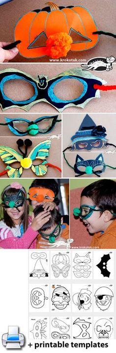 halloween diy kids crafts Halloween MASKS