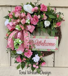 Total Wreath Design by TotalWreathDesign Spring Wreaths, Easter Wreaths, Summer Wreath, Holiday Wreaths, Holiday Crafts, Summer Decorating, Decorating Ideas, Craft Ideas, Wreaths For Front Door