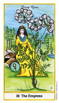 May 15 Tarot Card: The Empress (Herbal Tarot deck) 'Love and compassion are necessities, not luxuries. Without them humanity cannot survive' ~ Dalai Lama