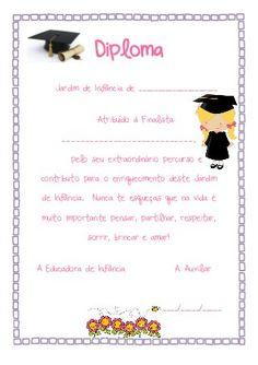 Certificados e Diplomas Pré-escolar
