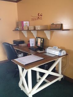 Crafts, crafts, and more crafts!: New desk