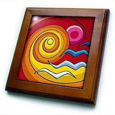 Abstract Sun seagull art bright and fun design for all occasions - 8x8 Framed Tile by 3dRose. $22.99. Abstract Sun seagull art bright and fun design for all occasions Framed Tile is measuring 8w x 8h x .75d. Made of solid wood with predrilled keyhole for easy wall mounting. Framed tile comes with 6w x 6h ceramic gloss tile attached to the wood frame.. Save 15% Off!
