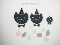 DIY free Template chalkboard cat & speech bubbles by La maison de Loulou {www.lamaisondeloulou.com/blog}