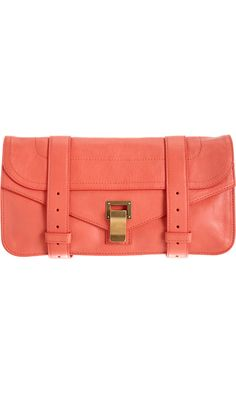 Proenza Schouler PS1 Pochette Leather obsessed with this clutch!