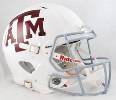 Texas A&M Aggies Full Size Riddell Speed Football Helmet