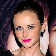 alexis bledel. her eyes are beautiful & i love her lipstick in this picture!