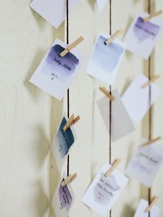 escort card hanging