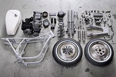 Disassembled Organization of Motorcycle