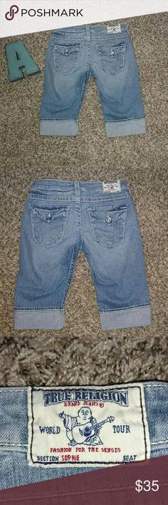 True Religion Light Denim Shorts True Religion Light Denim Shorts. Style is called Sopnie. Pre owned and in excellent condition. Size 27 True Religion Shorts Jean Shorts