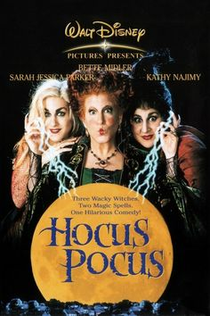 The 1993 film Hocus Pocus, starring Bette Midler, Sarah Jessica Parker, and Kathy Najimy, is to be rebooted as a TV movie. Película Hocus Pocus, Hocus Pocus Movie, Hocus Pocus Disney, Hocus Pocus 1993, Disney Dvd, Film Disney, 90s Disney Movies, 90s Kids Movies, Disney Channel Movies
