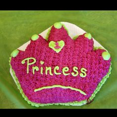 """My daughter's """"smash cake"""" at her princess themed first bday party! Cakes by Debbie (DFW, TX metroplex only!) https://www.facebook.com/CakesByDebbieDFW?ref=ts&fref=ts"""