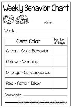 Classroom Freebies: Classroom Management and Behavior Charts