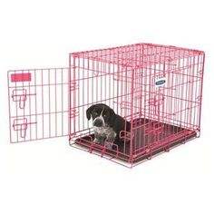 PETMATE 24 INCH PINK PUPPY 2 DOOR TRAINING KENNEL