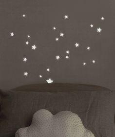 Muurstickers sterren glow in the dark - Lilipinso