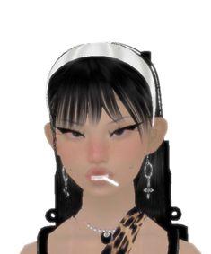 Black Girl Cartoon, Anime Pixel Art, Gothic Anime, 3d Girl, Beautiful Anime Girl, Cybergoth, Indie Kids, Cute Icons, Kawaii Girl