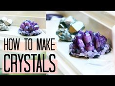 Today I'll be showing you how I made these super easy crystal clusters at home- without borax, alum, pipe cleaners, or salt. I actually used polymer clay! Alum Crystals, Borax Crystals, Diy Crystals, Black Crystals, Polymer Clay Creations, Polymer Clay Crafts, Diy Clay, Resin Crafts, Diy Arts And Crafts