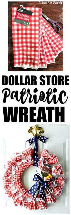 Dollar Store Patriotic BBQ Picnic Wreath