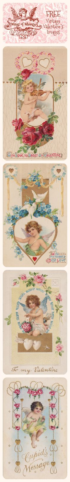 FREE DOWNLOAD - VALENTINE - Wings of Whimsy: Vintage Valentine's Images - free for personal use