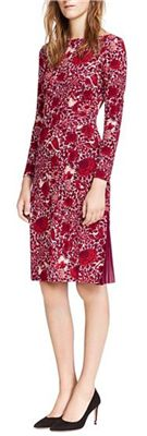 Tory Burch - Ria Dress: The Japanese-inspired floral nature design of this dress is beautifully accented with sheer deep red pleat insets on the sides of the skirt - great for a nice dinner or baby shower.