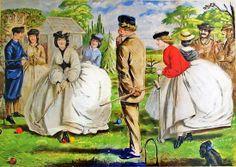 1865 John Leech (English artist, 1817-1864) A Nice Game For Two Or More http://b-womeninamericanhistory19.blogspot.com/2013/06/croquet-in-garden.html
