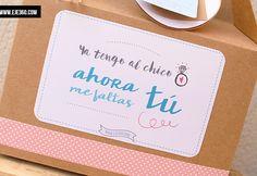 caja-dama-de-honor-boda Be My Bridesmaid, Bridesmaid Gifts, Bridesmaids, Wedding Gifts, Our Wedding, Wedding Planer, My Perfect Wedding, Ideas Para Fiestas, Team Bride