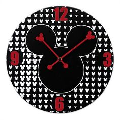 Disney Mickey & Minnie Mouse Retro Wall Clock