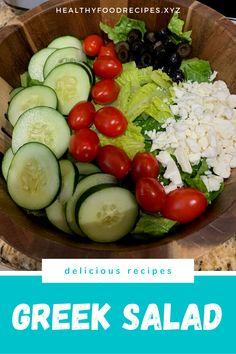 Greek Salad Kj, Greek Salad for Greek Salad and Keto, Greek Salad Unhealthy, Why Greek Yogurt Salad Dressing, Yogurt Salad Dressings, Greek Chicken Salad, Greek Quinoa Salad, Greek Salad Pasta, Easy Greek Salad Recipe, Greek Salad Recipes, Healthy Salad Recipes, Greek Salad Calories