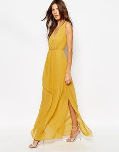 Image 4 ofReiss Tasca Maxi Dress with Plunge Front