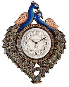 5ff58cc4d0 RoyalsCart Peacock Analog Wall Clock. See more. Buy Vintage Clock  Handicraft Peacock Clock / One Year Warranty Online at Low Prices in India