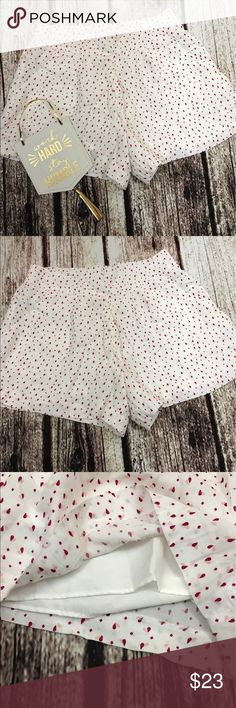 Disney Collection shorts Disney Lauren Conrad collection limited edition shorts heart printed in euc size small has a elastic band in the back fully lined Disney Shorts