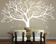 Tree Wall Decal Family Tree Wall Sticker - Vinyl Tree Wall Decor - T46
