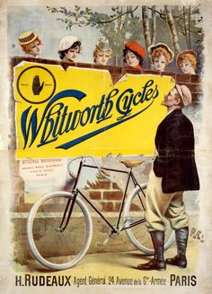 Vintage Whitworth Cycles poster