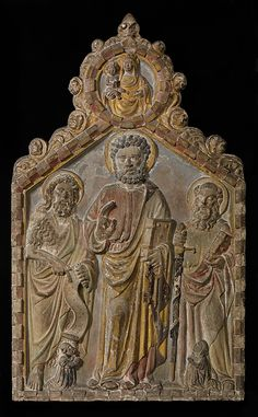 Relief Altarpiece with Saints Peter, Paul, and John the Baptist  Attributed to Gerardo di Mainardo   Date: 1408 Geography: Made in, Venice, Veneto, Italy Culture: Italian