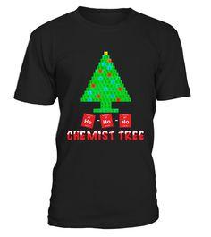 Chemist Tree   Unique Chemistry Christmas Gift Shirt